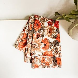Retro style floral tablecloth